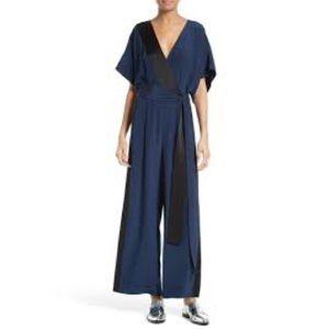 Diane von Furstenberglustrous silk jumpsuit Sz 14